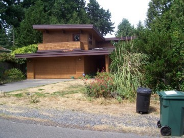 exterior stain project